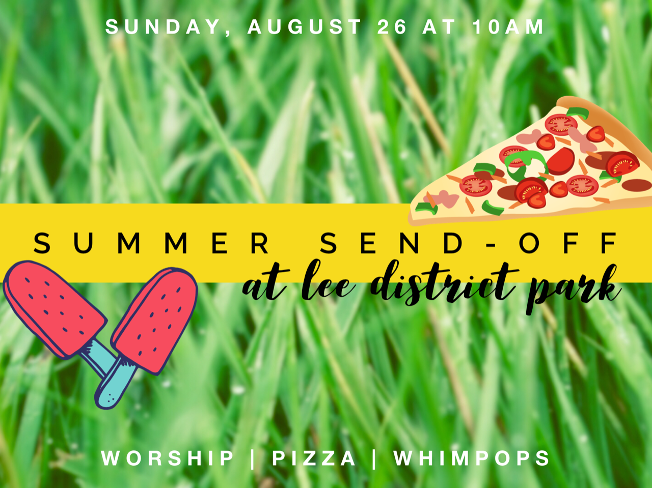 Summer Send-Off: Worship & Whimpops in the Park